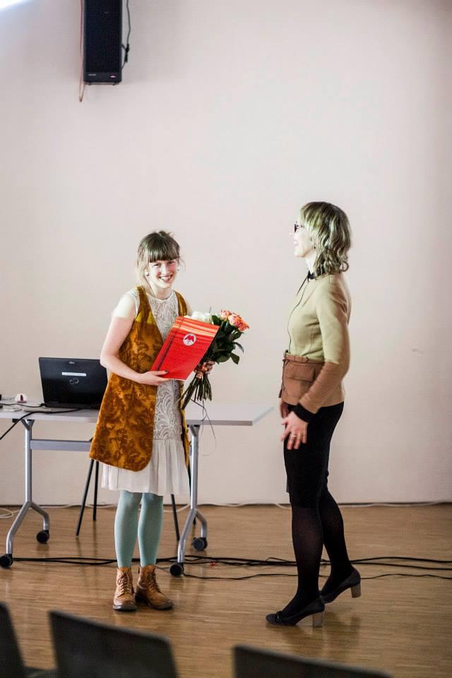 """""""Esimene samm"""" laureaat Hanneleele Kaldmaa."""