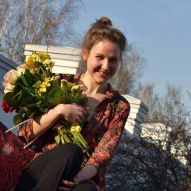 """Debüüdipreemia """"Esimene samm"""" 2019. aasta laureaat Marju Bakhoff."""